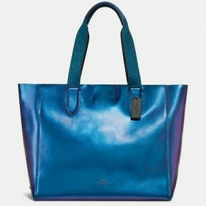 ⚡RARE- Price FIRM Coach Hologram Derby Tote